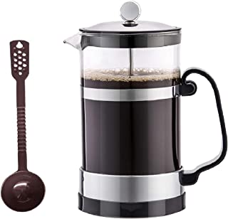 SmartHom French Press Coffee Maker 34 Oz 8 Cups, Particular Coffee Press & Tea Maker with Triple Filters and Durable Heat Resistant Glass
