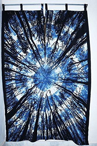 Future faite à la main 5 pcs Ensemble de rideaux faite à la main fenêtre de porte à suspendre Coque Rideaux Living Home Decor fenêtre traitements Rideaux Unique Rideau Coton indien Drapes Cantonnière Mandala Rideaux, Coton, Pack 2, PACK 1 (81\
