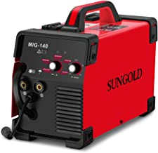 SUNGOLDPOWER MIG Welder 140A Gas and Gasless Welding 110/220V Dual Voltage IGBT DC..