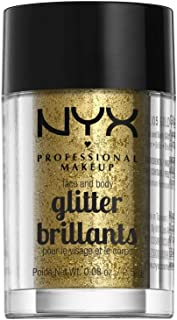 NYX PROFESSIONAL MAKEUP Face & Body Glitter, Gold