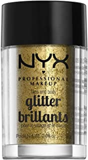 NYX PROFESSIONAL MAKEUP Face & Body Glitter, Gold, 0.08 Ounce