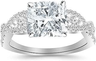 Best cushion cut channel set engagement rings Reviews