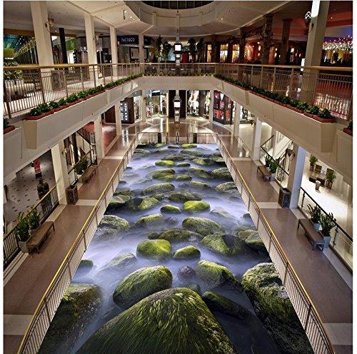Rureng Waterproof floor mural painting liver 3d flooring bathroom 3d floor murals PVC waterproof floor Home -120x100cm