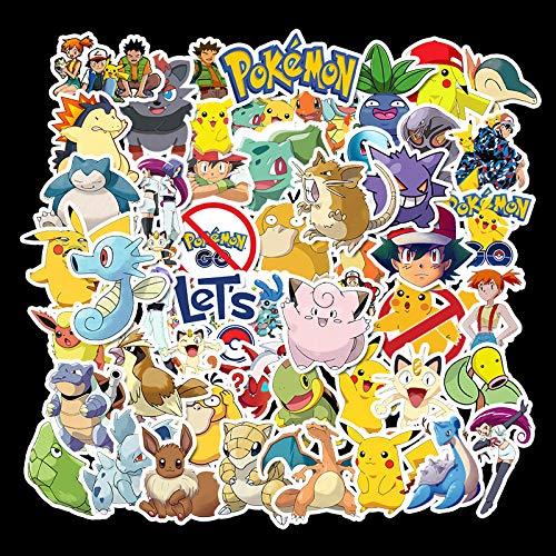 CHUDU Etiqueta engomada del Coche de la Caja de la Palanca del Cuaderno de la protección Solar Impermeable de la Historieta de Pokemon Pokemon 50