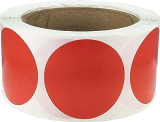 Rojas Pegatinas Circulares, 51 mm 2 Pulgadas Etiquetas de Puntos 500 Paquete