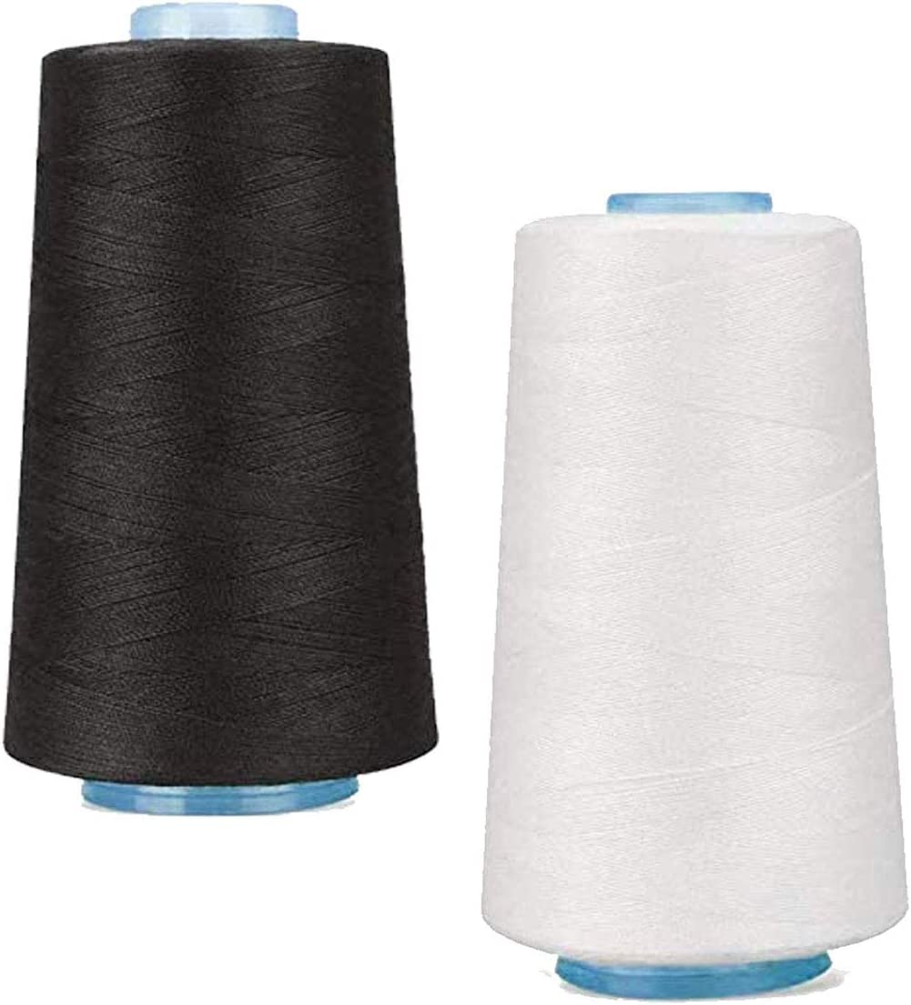 Sewing Thread for Machine Industry No. 1 Hand Ranking TOP1 P and 2 White Black