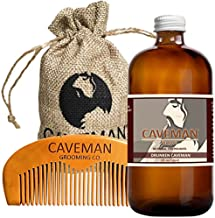 Hand Crafted Caveman Drunken Caveman (Bay Rum) Beard Oil Leave in Conditioner, 1oz oil and FREE Handmade Comb (Drunken Caveman (Bay Rum), 1oz oil)
