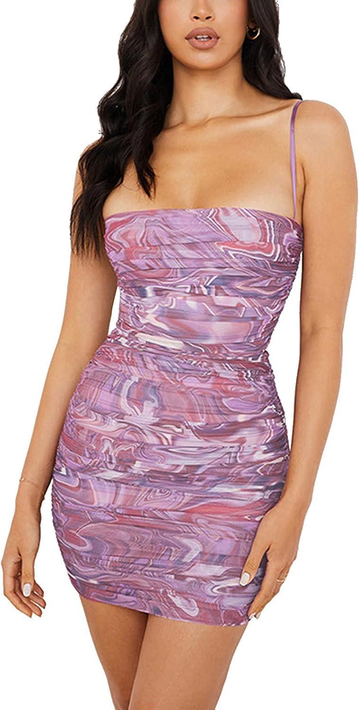 Women Sexy Bodycon Mini Dress Y2K Sleeveless Backless Summer Dress Beach Party Club Night Clubwear
