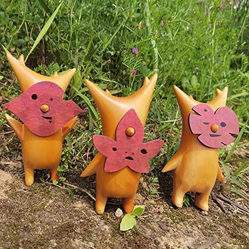 Korogu Family, Wooden Korogu/Korok Statue - Zelda Breath of The Wild, Puppet Toy Handicraft Decoration A