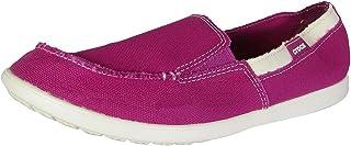 crocs Womens Melbourne Canvas Slip On Loafer Shoes