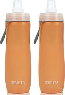 Brita 20 Ounce Sport Water Bottle with 2 Filters BPA Free 2 Pack