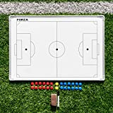 FORZA 35in x 24in Sport Coaching Board | 13 Sport Options | Double-Sided Tactics Whiteboard (Soccer)