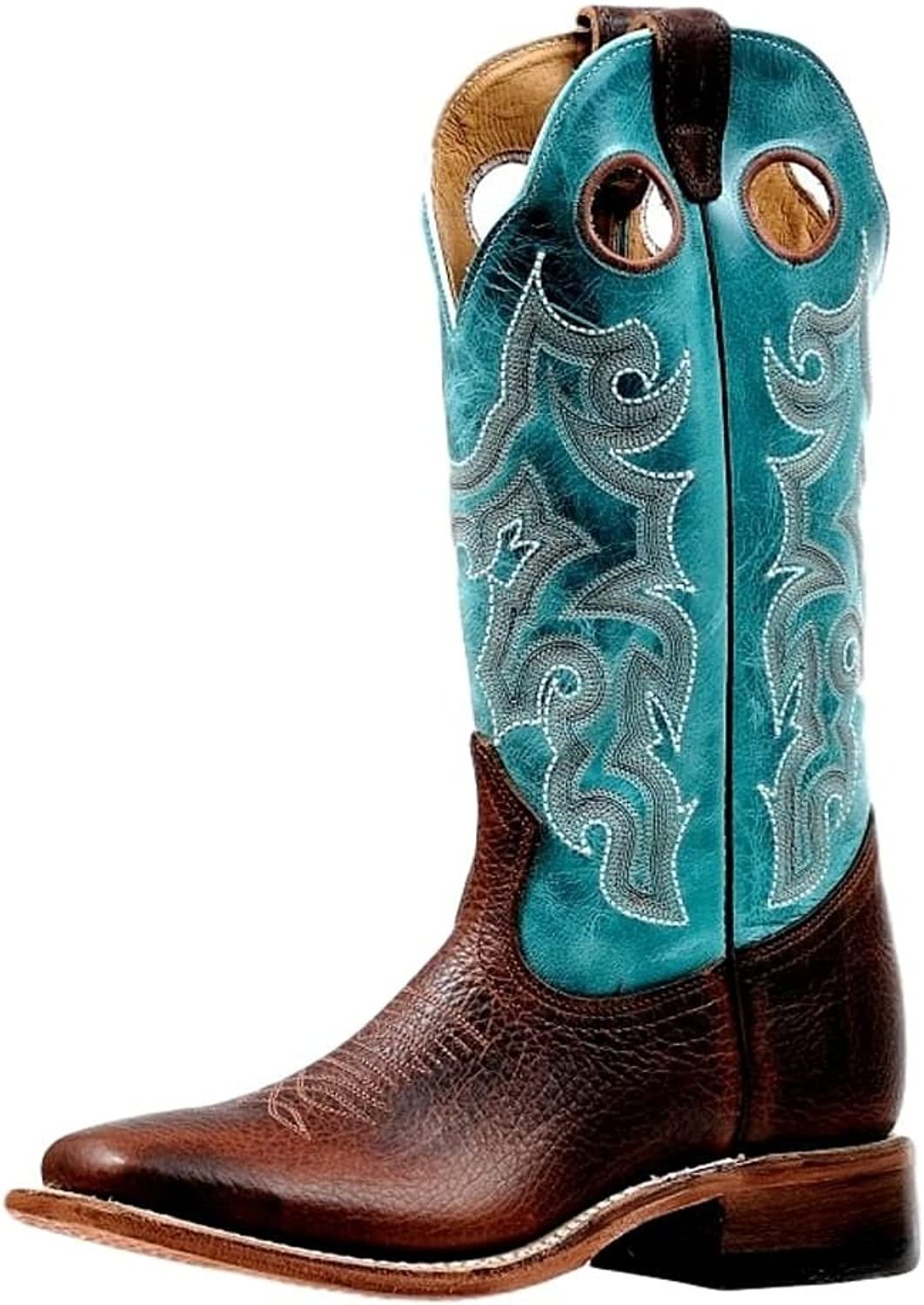 Boulet Western Boots Womens Wide Square Rider Bisonte Whisky 6320