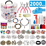 Jewelry Making Kit,Jewelry Making Supplies Includes Jewelry Beads,Charms, Findings,Pliers and Beading Wire for Necklace Earring Bracelet Making Repair Jewelry Making Tools Kits for Girls and Adults