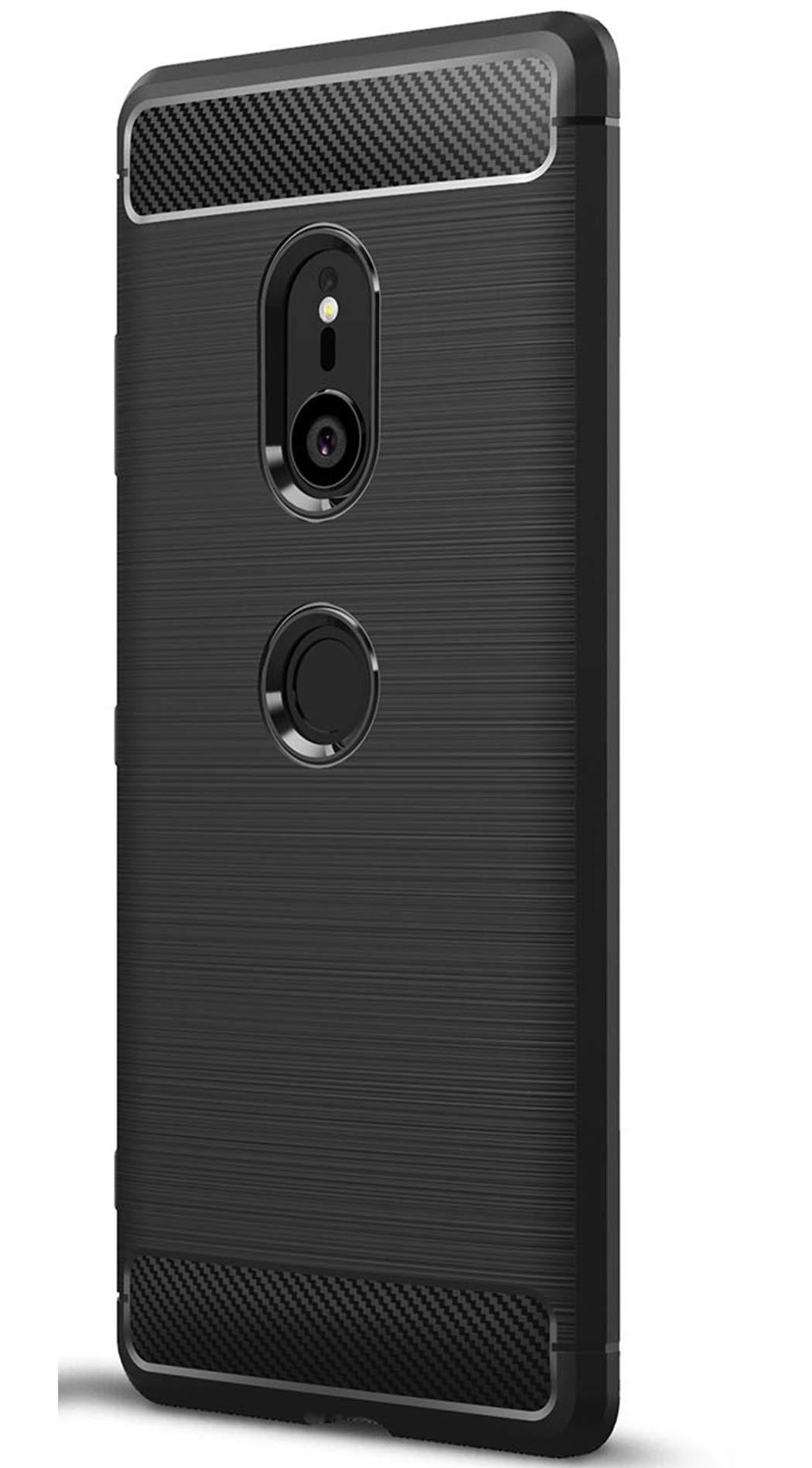 Tianqin Sony Xperia XZ3 Funda, Ultra-Delgado Ultraligero de Amortiguación Silicona TPU [Anti Deslizamiento] [Resistente a los Arañazos] Cubierta Protectora del Caso para Sony Xperia XZ3 Case - Negro: Amazon.es: Hogar