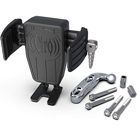 Ciro CYBERCHARGER Phone Holder with 15W Wireless Fast Charger and Chrome Perch Mount