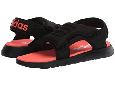 adidas Kids Comfort Sandal (Toddler/Little Kid) (Black/Solar Red/White) Kid