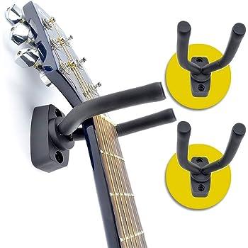 ASPA Soporte para Guitarra Eléctrica Acústica Ukelele Bajo Stand de Pared para instrumento musical (2 piezas). Excelente regalo para exhibir tus instrumentos musicales, ahorra un mayor espacio y disfruta el tenerlos visibles.