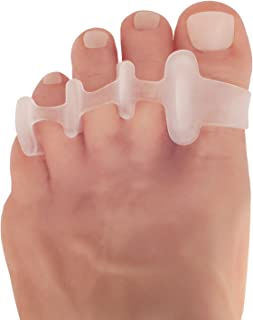 Dr. Frederick's Original Deluxe Toe Spreaders - 2 Pieces - Gel Toe Separators for Pain Relief - Temporary Bunion Corrector - Hammer Toe - Claw Toes - Corns - Free Size