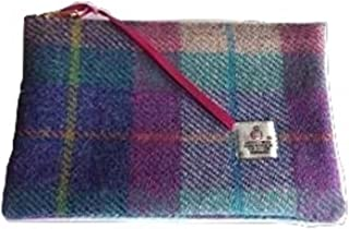 Harris Tweed Purse Cosmetic Make up Bag (Plaid Purple Heather)