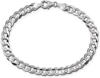 0526a8f7a0af Amazon.es: pulsera de plata de ley hombre