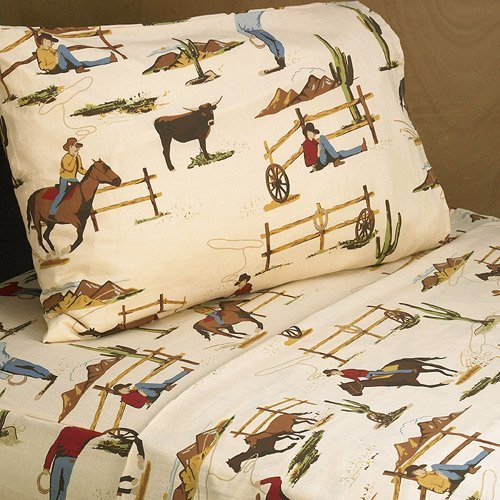 Sweet Jojo Designs 3pc Twin Sheet Set for Wild West Cowboy Chldrens Bedding Collection