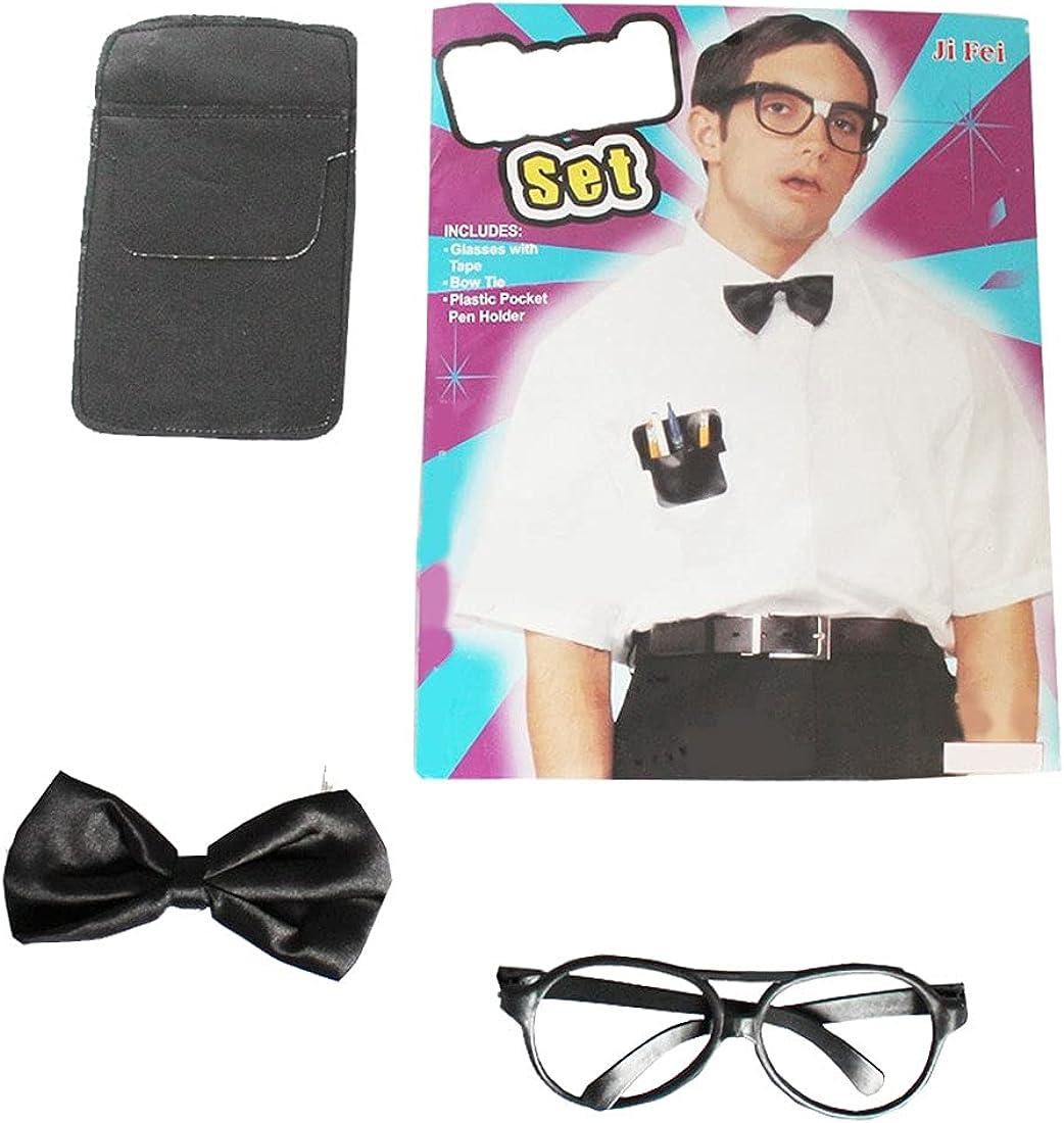 Spinbit Kids Plastic Pocket Bow Tie Glasses Party Costume Party Kit Boys Accessory Set
