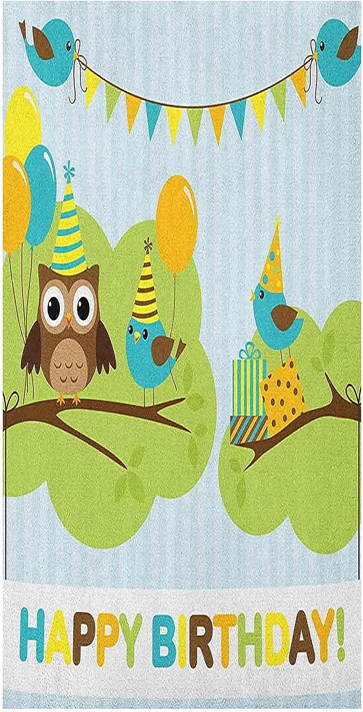 Privacy Kids Birthday Window Regular store Film Cartoon Branch Bird Owl Tree Dealing full price reduction