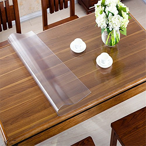 OstepDecor Custom 1.5mm Thick Frosted PVC Table Cover Protector Desk Pads Multi-Size | Rectangular 23.6 x 60 Inches (60 x 152.4cm)