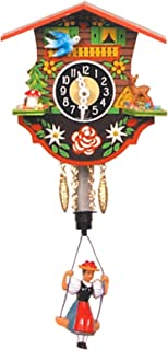 Alexander Taron Importer 110SP Black Forest Chalet Clock with Bouncing Girl Pendulum