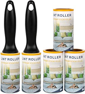 Lint Rollers Remover Clothes Roller -Ultra Sticky Sturdy Easily Peel Tape Lint Roller Refill Lint Rollers for Pet Hair on Clothes, Pants,Car Seats,Carpet,Leather Chair
