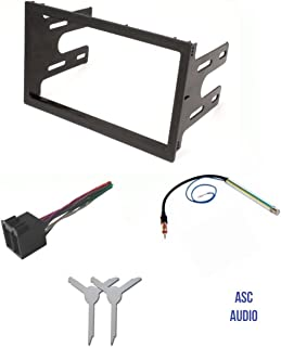 ASC Audio Car Stereo Dash Pocket Kit,  Wire Harness,  Antenna Adapter,  and Radio Removal Tool for installing a Double Din Radio for VW Volkswagen- 1999 2000 2001 Golf / GTI,  Jetta,  Passat