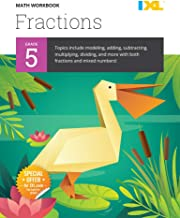 IXL | Grade 5 Fractions Math Workbook | Fun Math Practice for Ages 10-11, 112 pgs