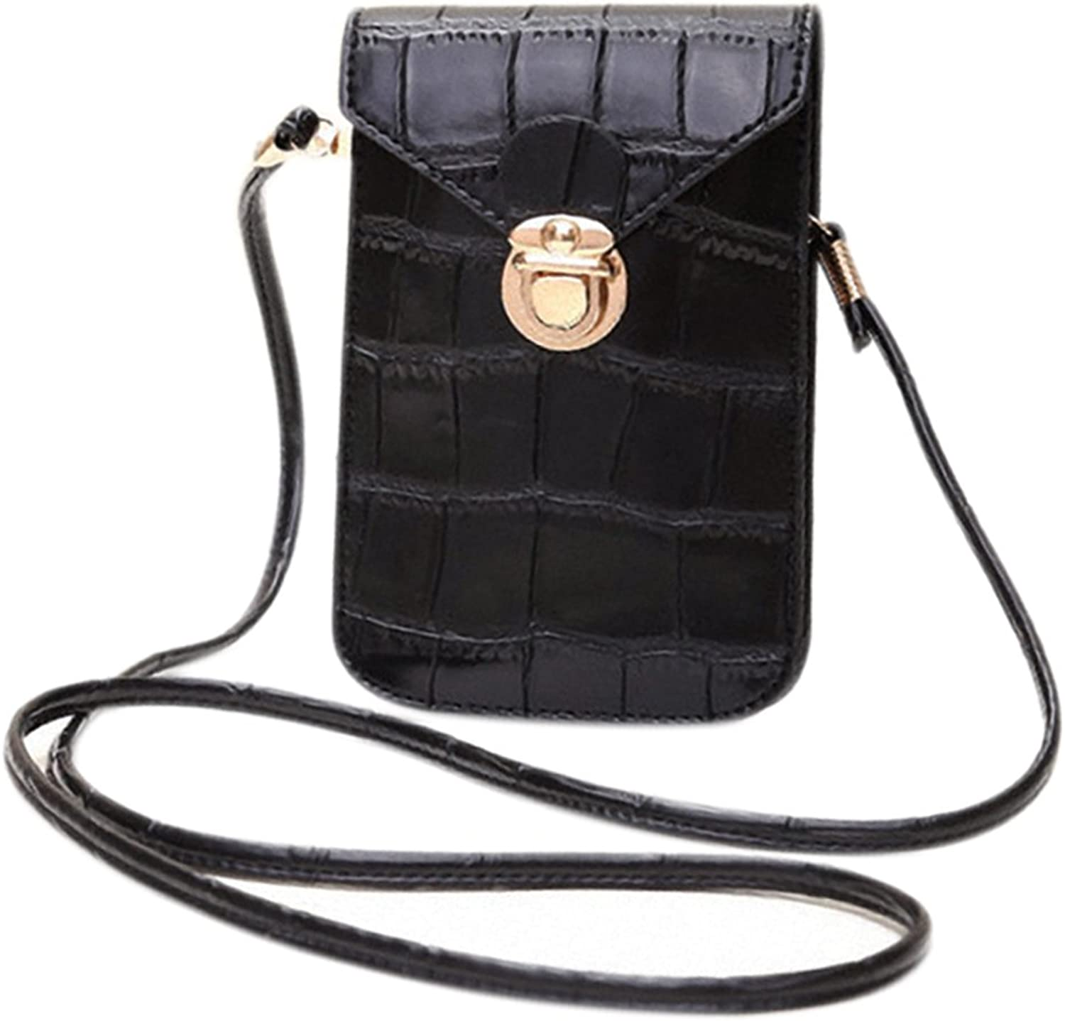 CCUS Waterproof Crossbody Shoulder Bag, Coin Purse Cell Phone Pouch with Removable Strap
