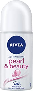 NIVEA Pearl & Beauty Roll On Anti-Perspirant Deodorant, 50ml