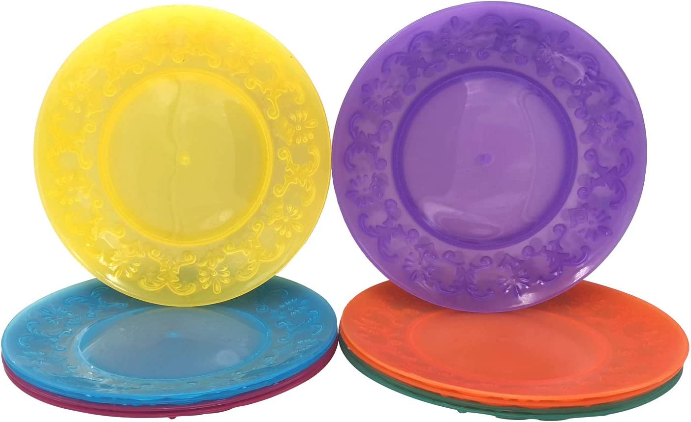 Plastic Dinner Plates Reusable Max 56% OFF Limited price sale BPA Free Inch 9 Col in 6 Assorted