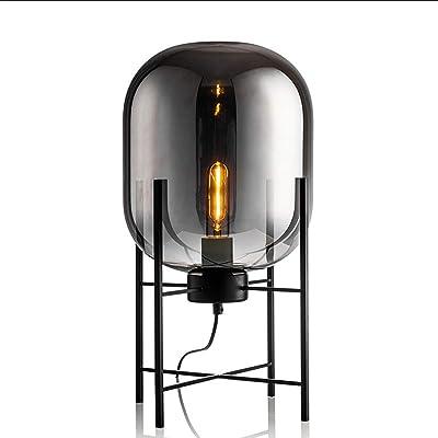Lámpara de escritorio posmoderna minimalista lámpara de vidrio ...