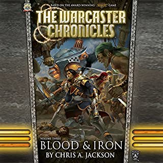 Blood & Iron     The Warcaster Chronicles, Book 3              Written by:                                                                                                                                 Chris A. Jackson                               Narrated by:                                                                                                                                 Marc Vietor                      Length: 3 hrs and 28 mins     1 rating     Overall 5.0