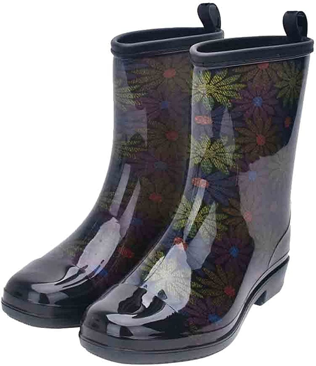 Rubber Rain Boots High quality Jelly Lined Water Mid Ladies Calf Bo Resistant unisex