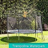 Demiawaking Arroseur de Trampoline d'été Système d'irrigation Brumisateur Extérieur Système de Refroidissement Jouets Pulvérisateur pour Waterpark Jardin Extérieur Parc Aquatique 39.37ft (Bleu Noir)