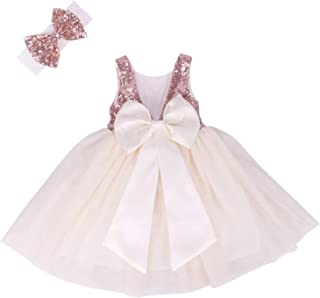 Flower Girl Dress Baby Toddlers Sequin Dress Tutu Kids Party Dress Bridesmaid Wedding Gown