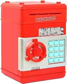 Huchas, Netspower Hucha Dinero Bancos, Electrónica Digital Mini ATM Ahorro de Bancos, Cajas de Ahorro de la Moneda, Juguetes de los Regalos para Niños con Sonido - Rojo