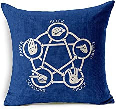 Chicozy the Big Bang Theory Red Car Robot Sofa Gestion Cushion Cover Pillow Case Pillowcase Gift