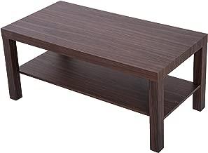homcom Moderno Tavolino per Soggiorno Stile Industriale a Due Ripiani in Legno MDF 38 x 38 x 45.7cm Nero