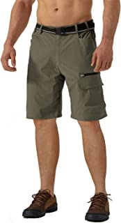 TACVASEN Men's Summer Outdoor Shorts Quick Dry Cargo Casual Hiking Shorts