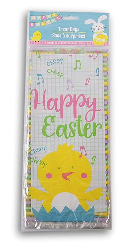Easter Themed Loot Treat Bags - Easter Chick - 25 Count