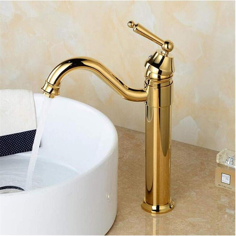 Vintage Faucet Faucet Copper European Retro Faucet Single Hole Basin Faucet Art Basin Above Counter Basin Hot and Cold Faucet