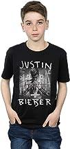 Justin Bieber niños Purpose Album Cover Camiseta 12-13 Years Negro