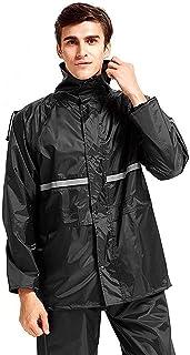 レインウェア上下セット 防水 YunTech レインスーツ 全天候型 レインコート 雨具 アウトドアスポーツ 雨合羽 カッパ 自転車 バイク 通学・通勤に対応 梅雨・台風対策 収納袋付き 男女兼用