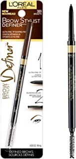 L'Oréal Paris Makeup Brow Stylist Definer Waterproof Eyebrow Pencil, Brunette, 0.003 oz.
